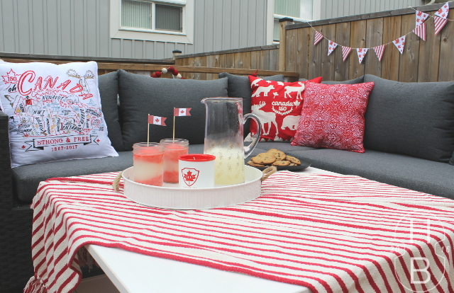 Happy 150th! Decorating for Canada Day + Frozen Flag Cocktails
