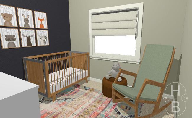 Comfortable Modern Nursery Design and Decorating Plan