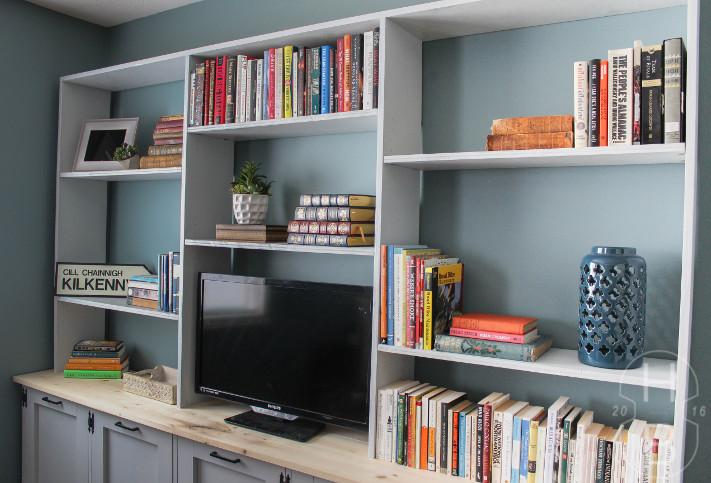 DIY Bedroom Storage Unit with Tilt-Out Laundry Baskets