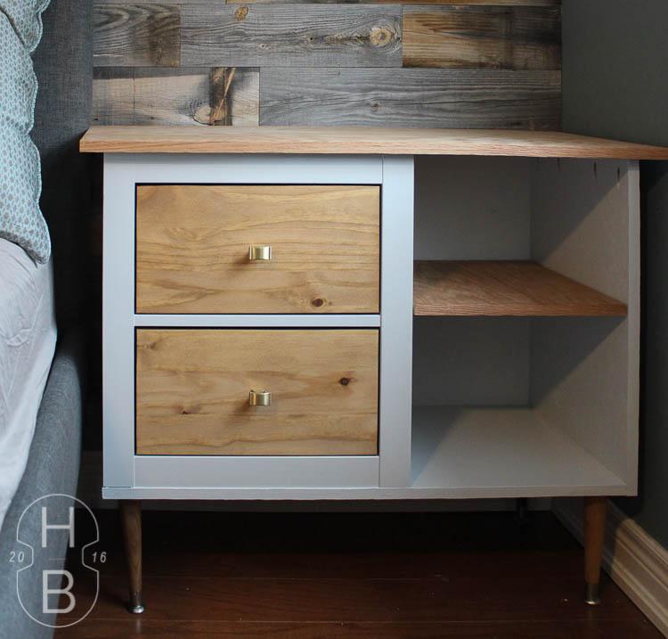 Ikea Hemnes Mid Century Modern Bedside Table Hack With PureBond Plywood